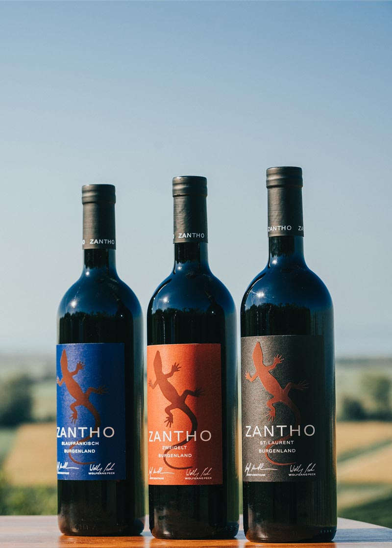 Zantho rotwein-set